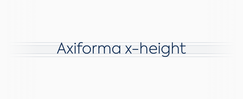 x-height representation of the Axiforma font